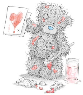Мишка Тедди - картинки.  Teddy сам изготовил открытку для любимой.