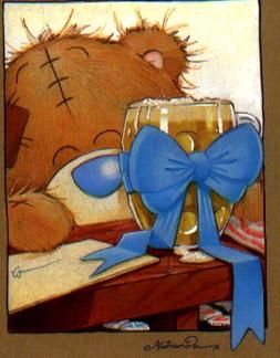 Это бокал его любимого напитка он