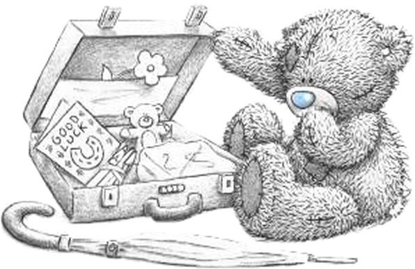 Картинки мишки тедди карандашом